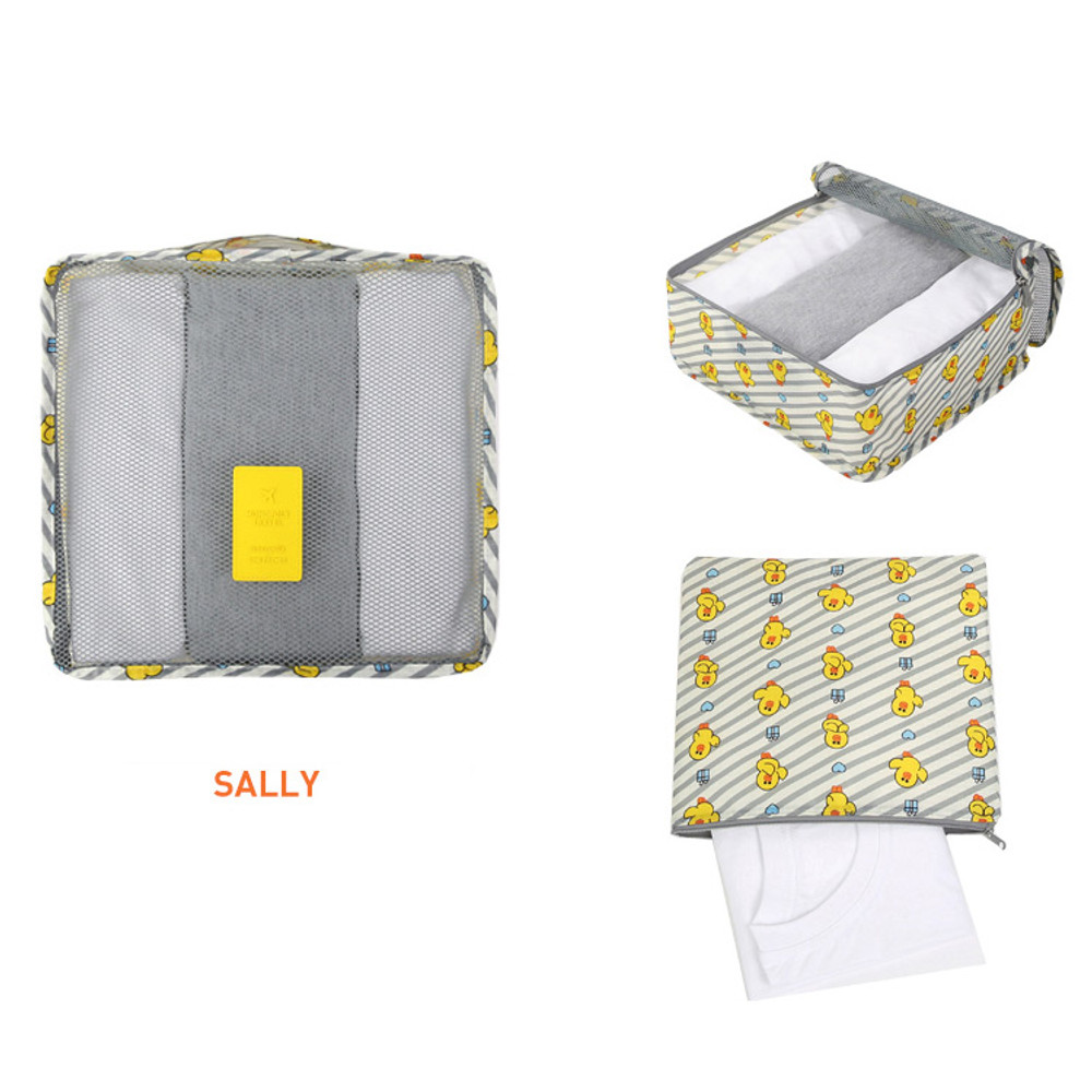 Sally - Line friends medium travel mesh bag packing organizer