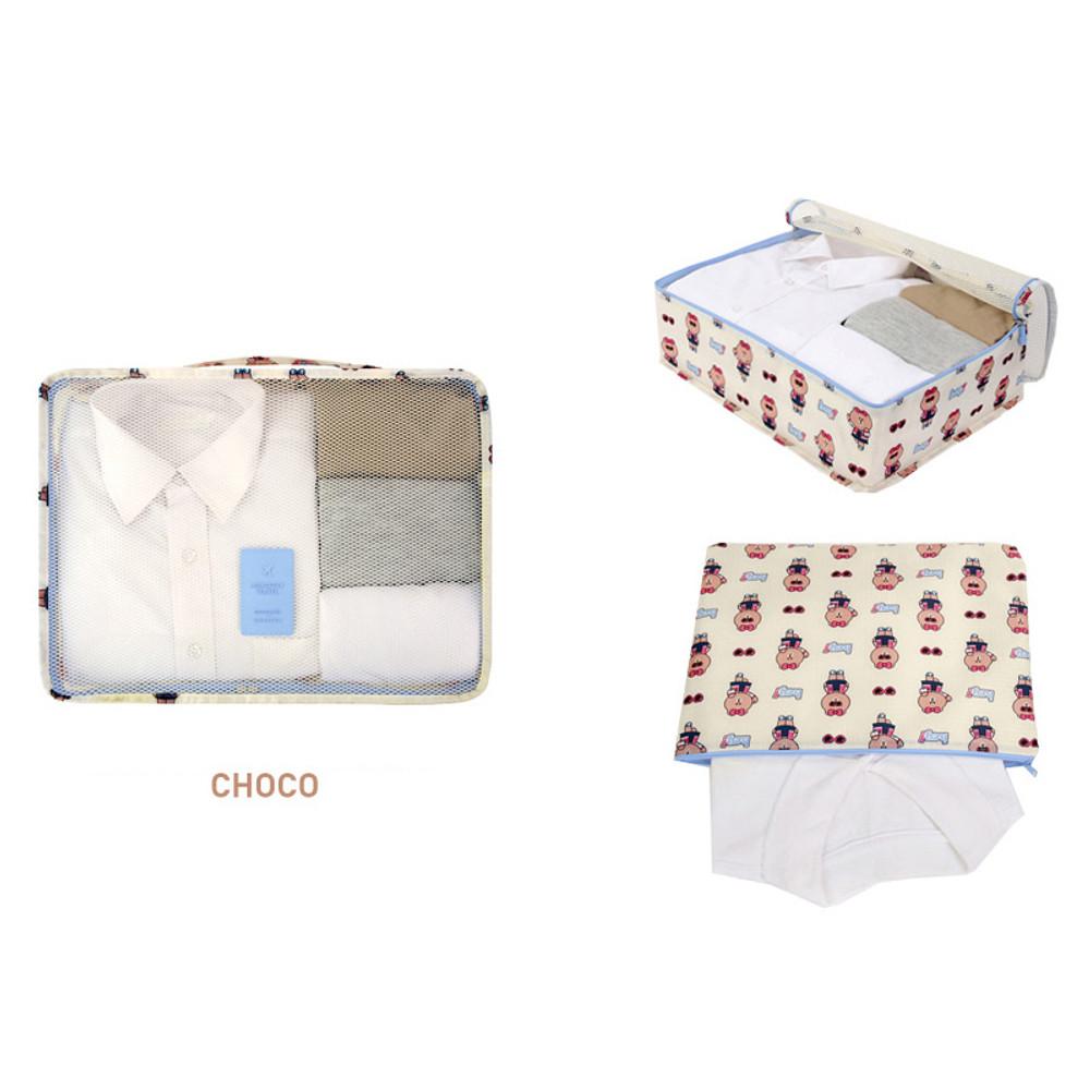 Choco - Line friends large travel mesh bag packing organizer