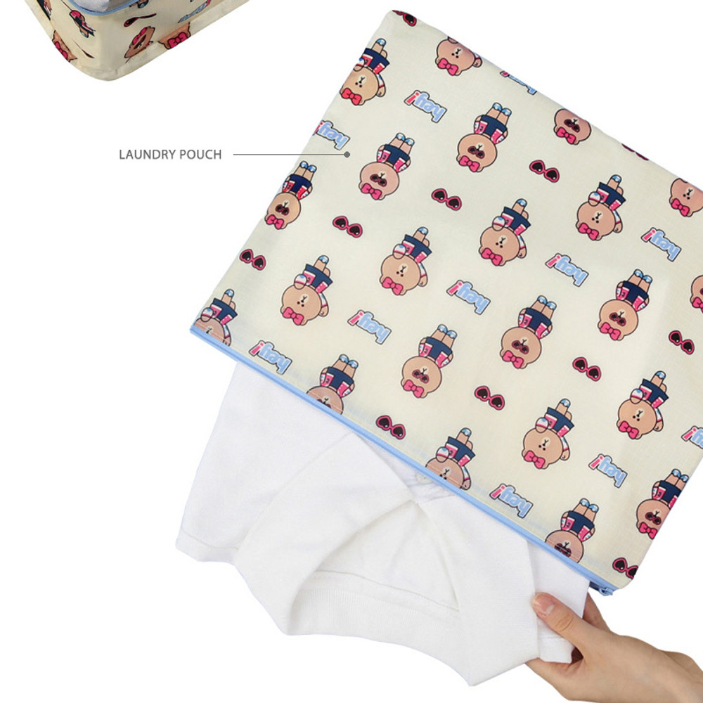 Laundry pouch - Line friends travel bag packing organizer