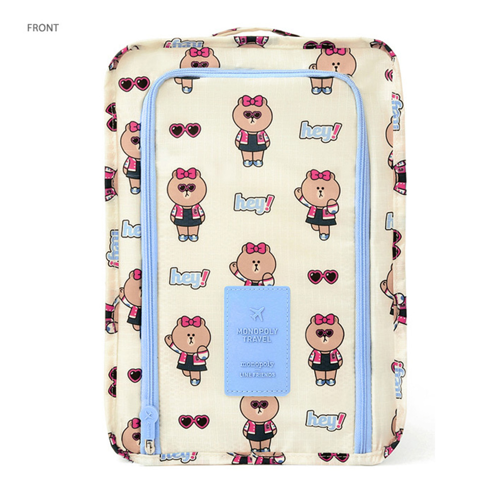 Front - Line friends travel zip shoes pouch bag ver.3