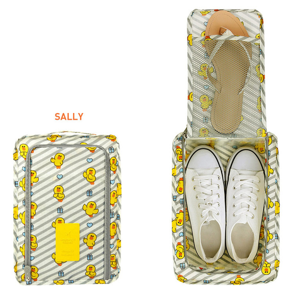 Sally - Line friends travel zip shoes pouch bag ver.3