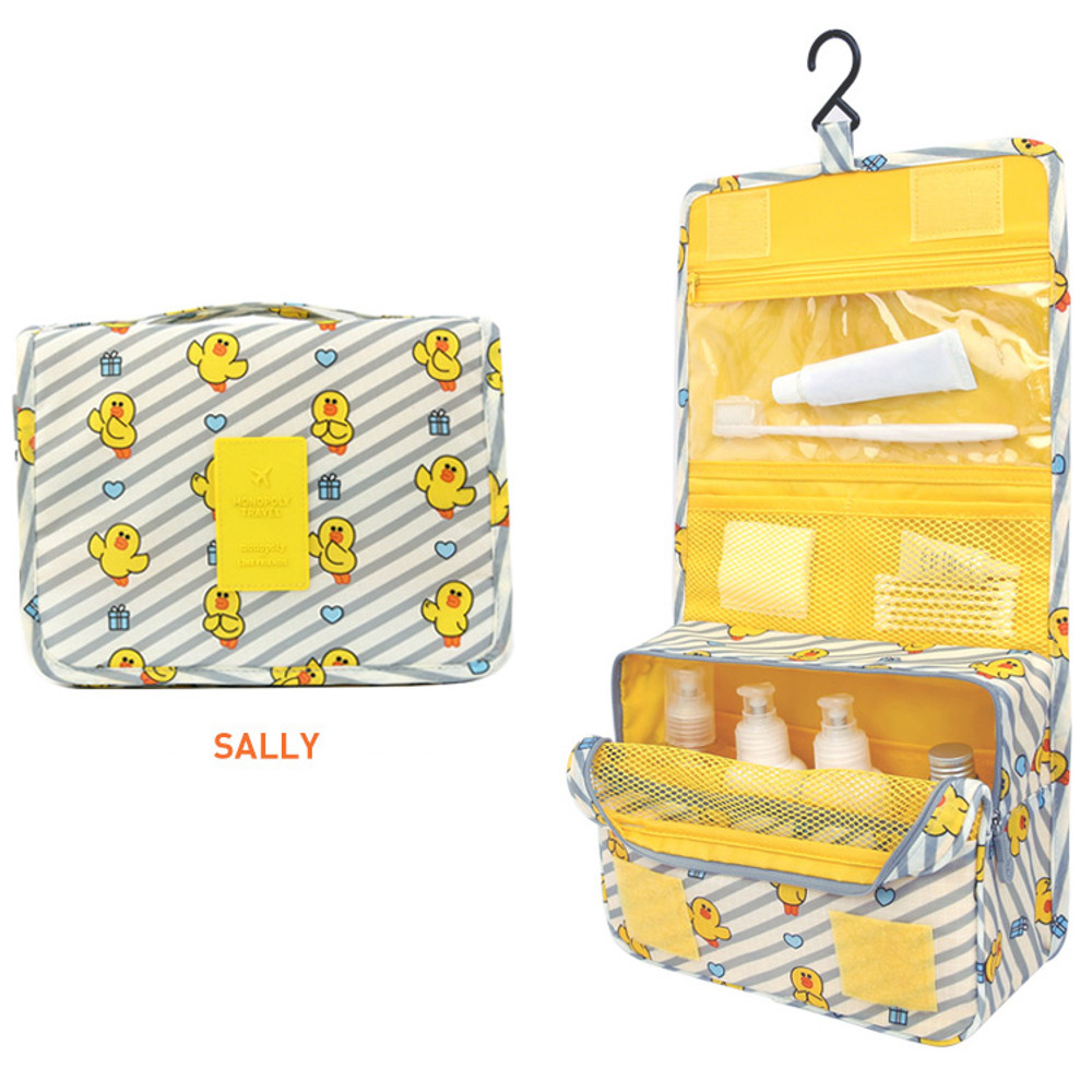 Sally - Line friends travel hanging toiletry pouch bag
