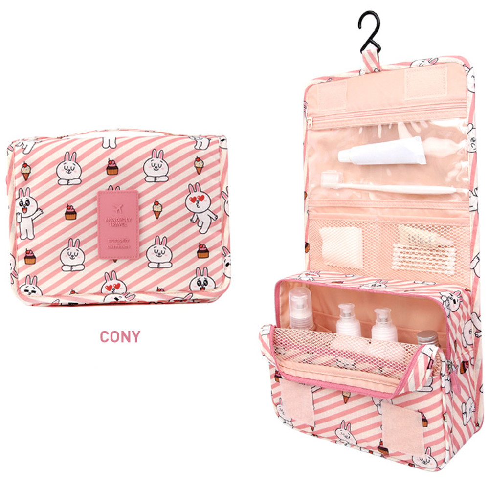 Cony - Line friends travel hanging toiletry pouch bag