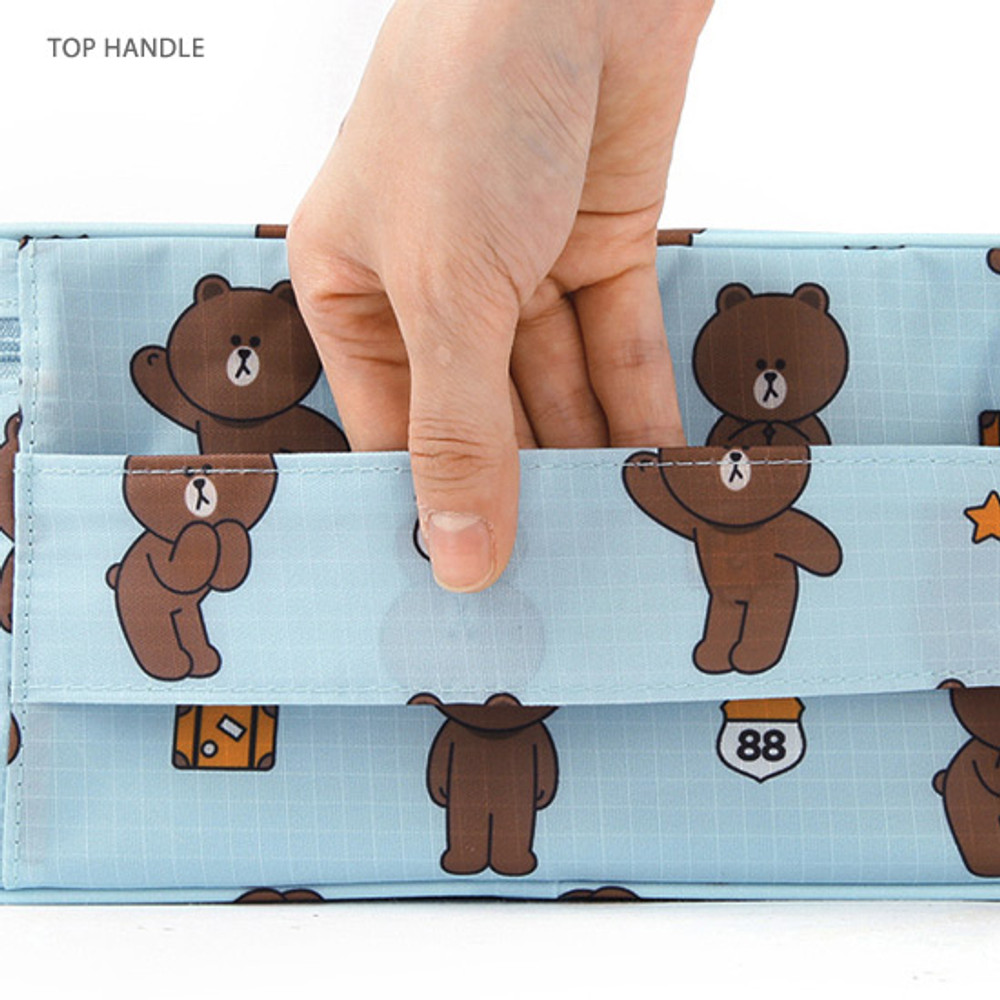Top handle - travel pouch bag for underwear and bra