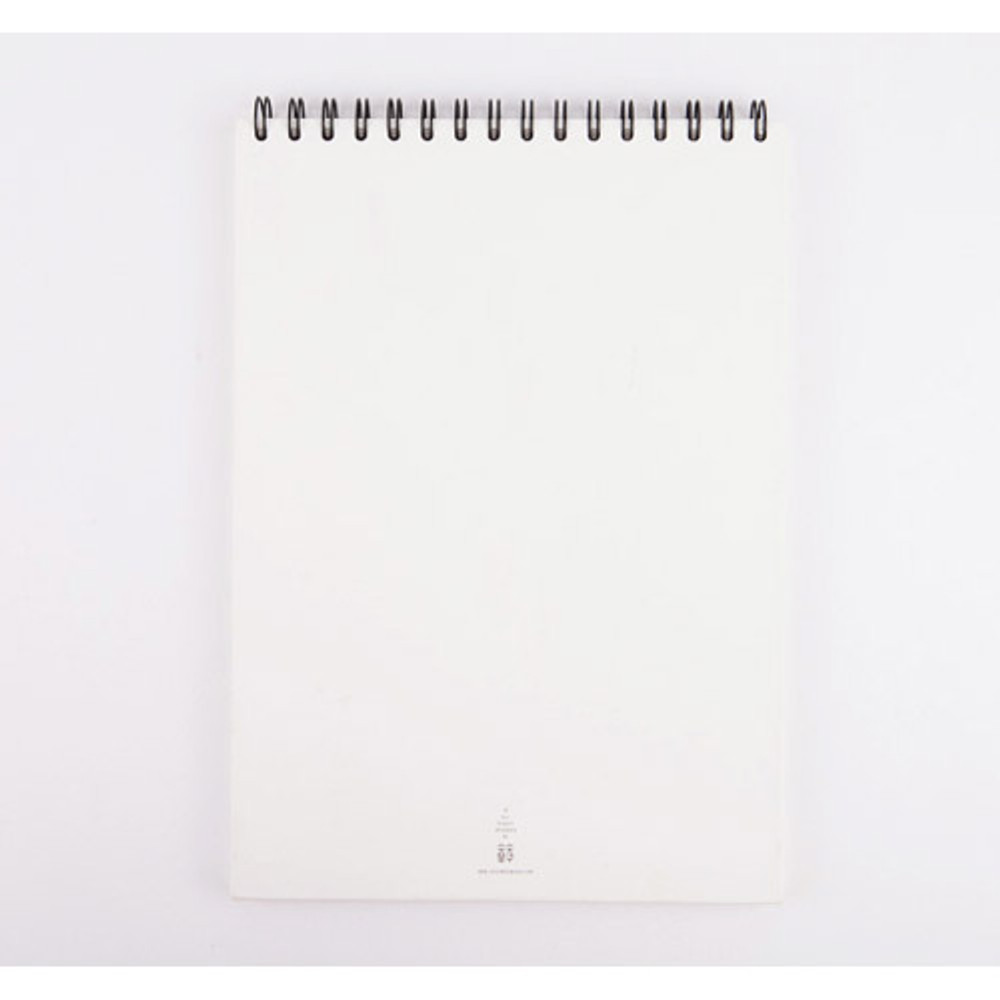 Back of Above the sea spiral A4 size drawing notebook
