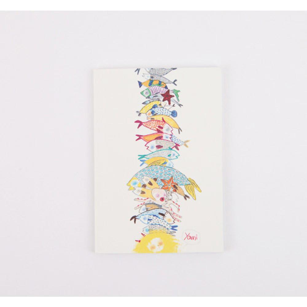 Mermaid illustration small lined notebook