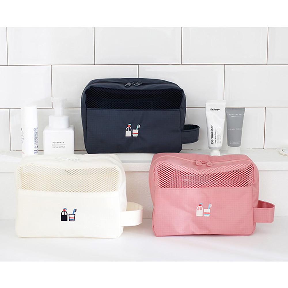 toiletry bag - Travel toiletry bag and toothbrush pouch set