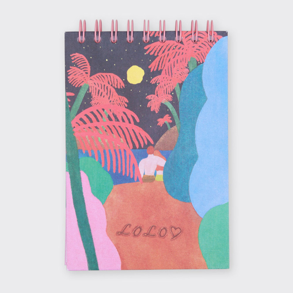 LOLO spiral drawing notebook