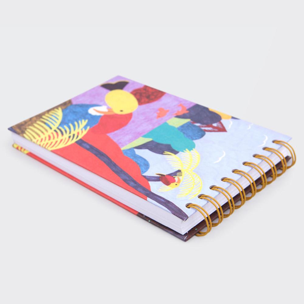 Bird Kiss spiral drawing notebook