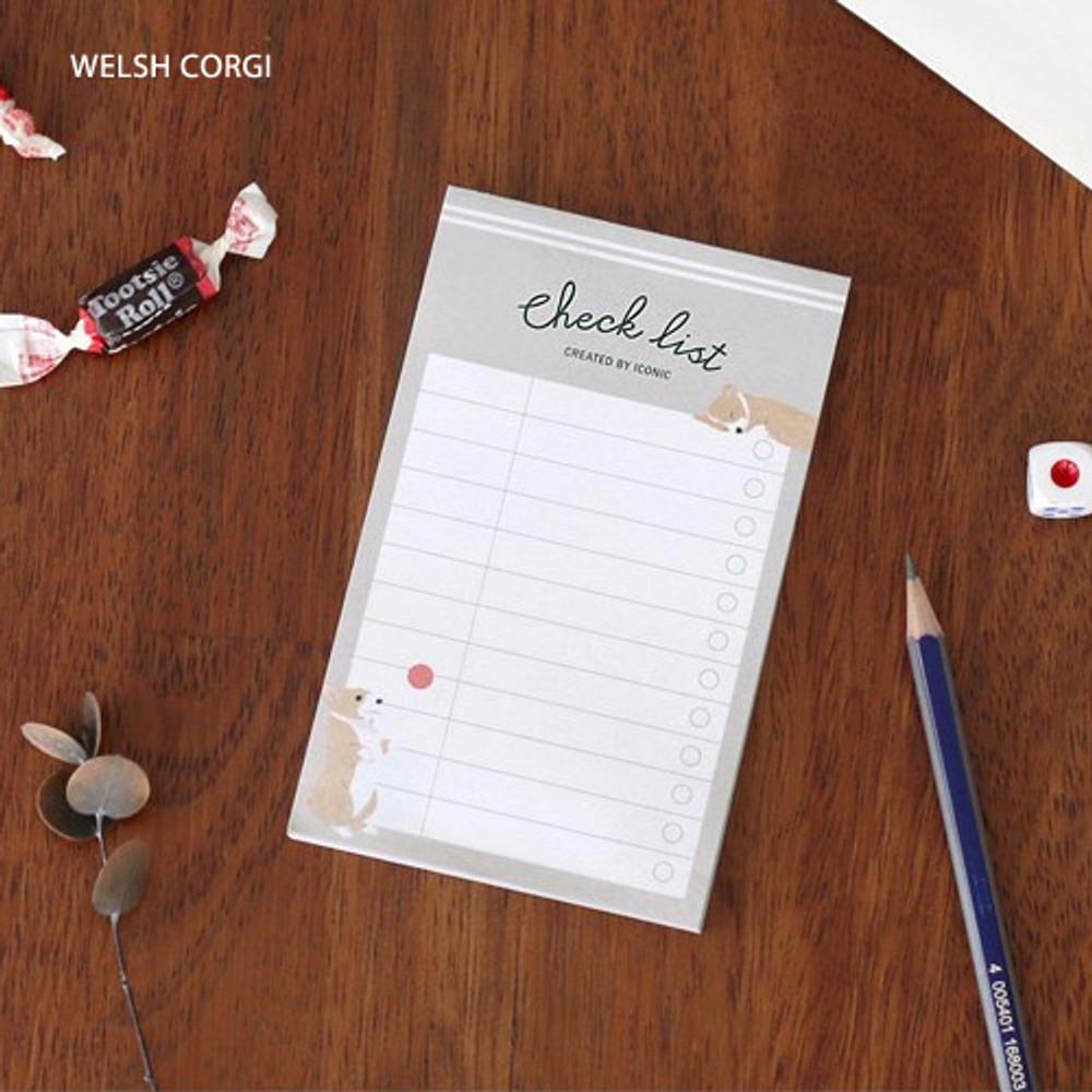Welsh corgi - Becoming pattern checklist notepad