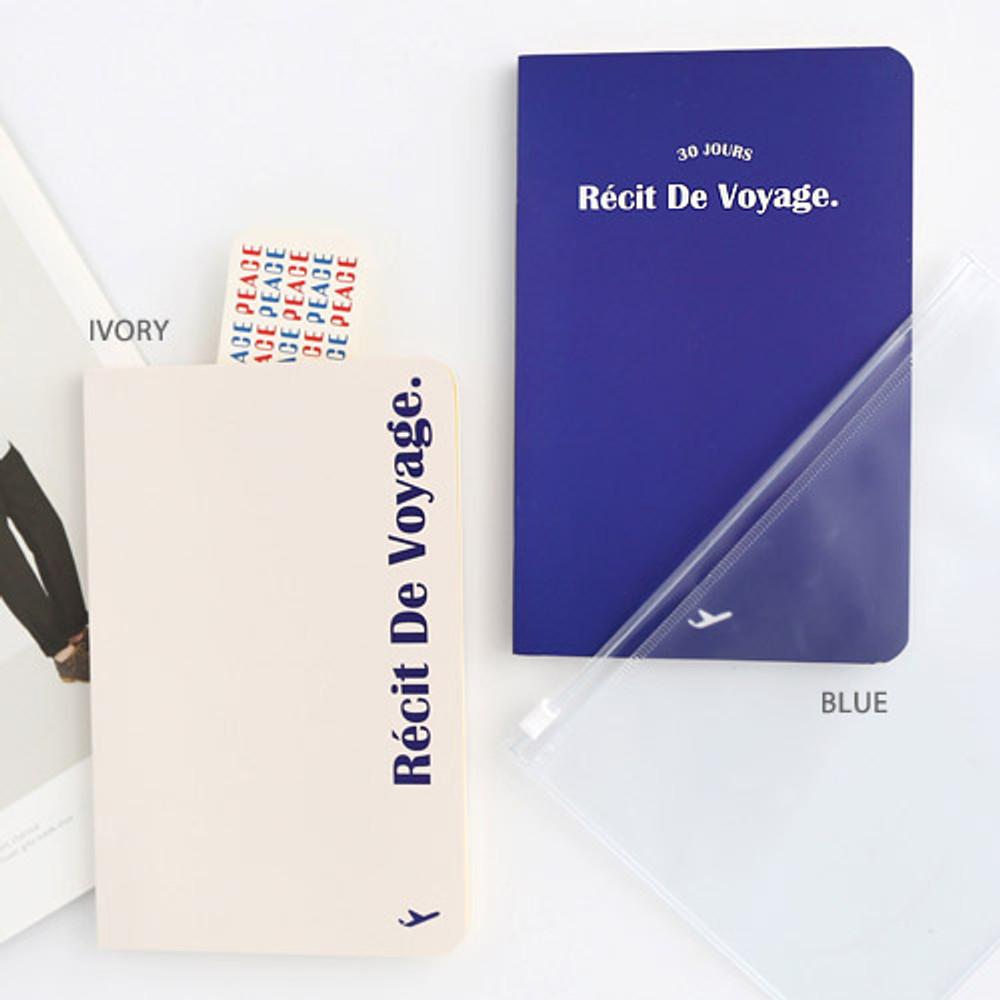 Ivory, Blue - Recit de voyage travel planner notebook