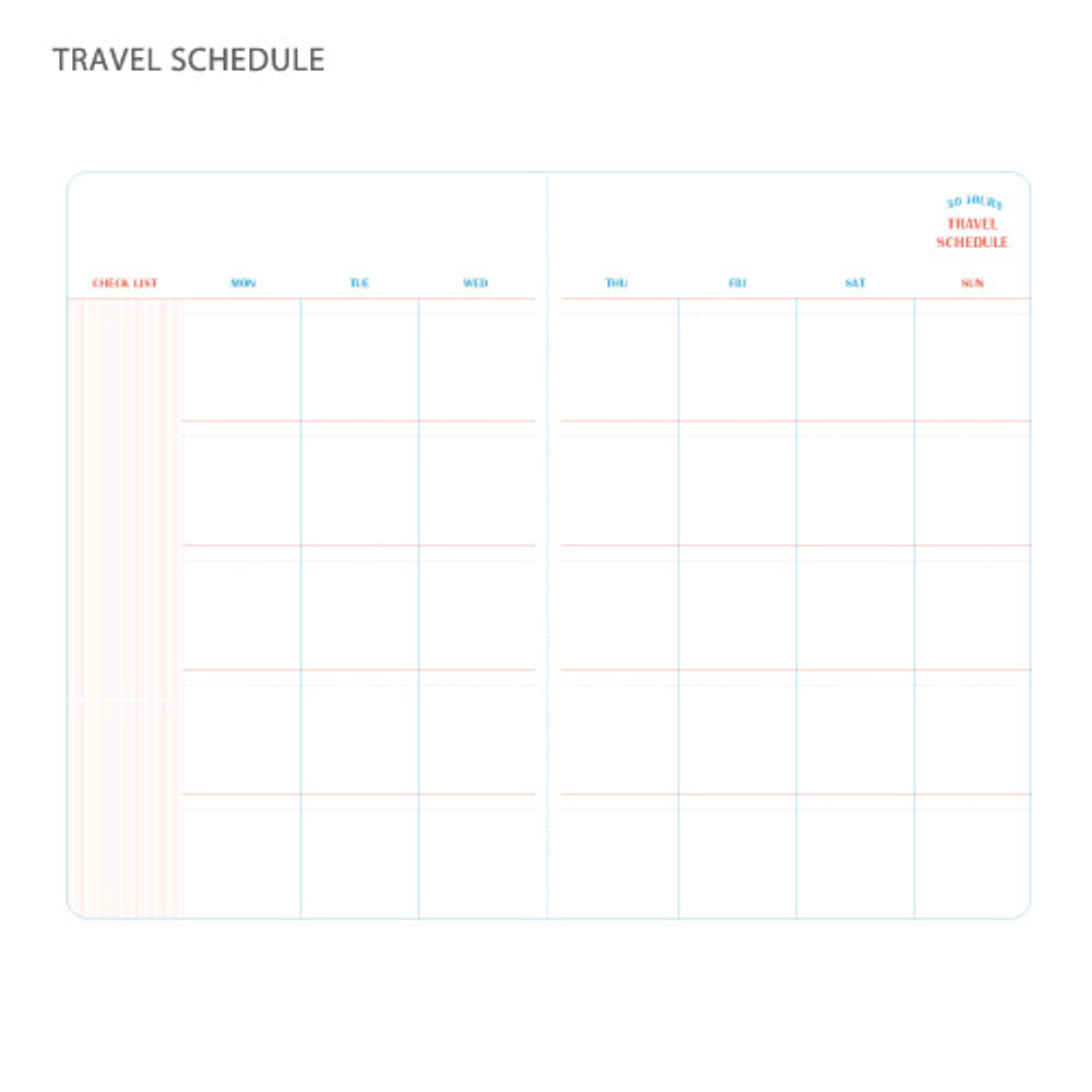 Travel schedule - Recit de voyage travel planner notebook