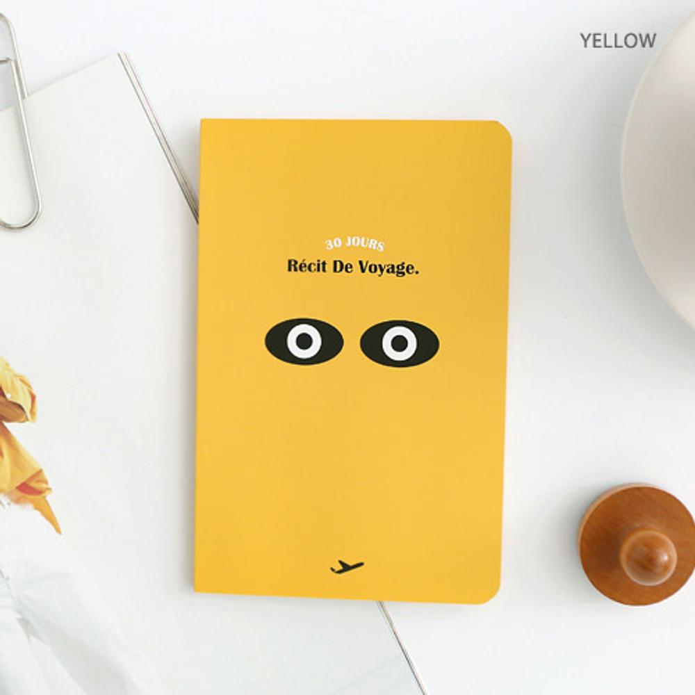 Yellow - Recit de voyage travel planner notebook