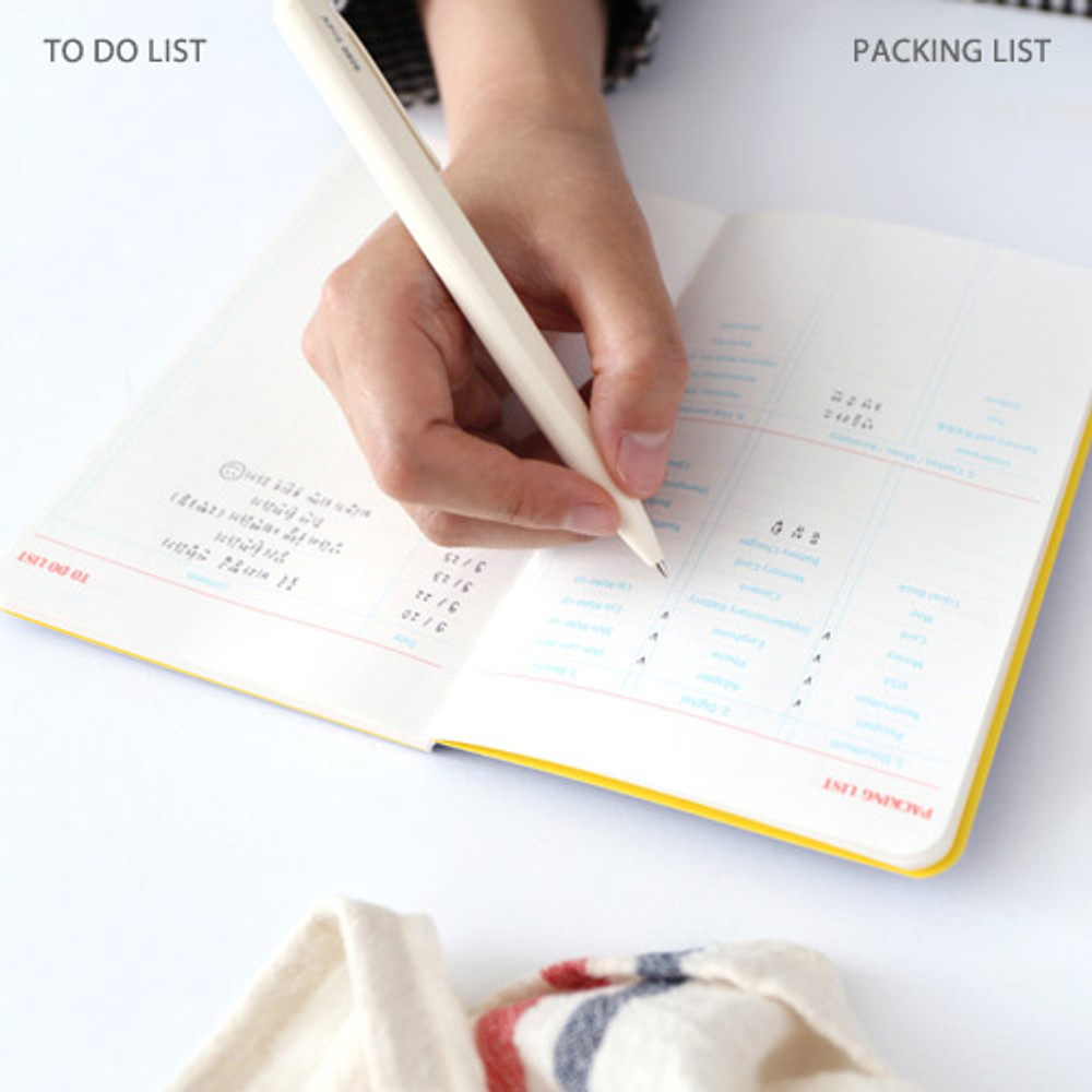 Packing list, To do list