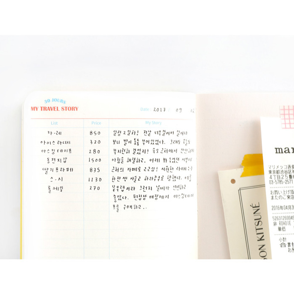 My travel story - Recit de voyage travel planner notebook