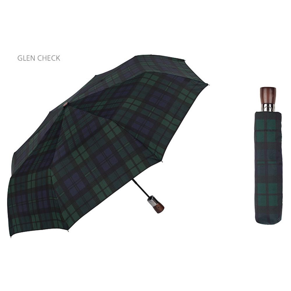 Glen check - Life studio automatic foldable pattern umbrella