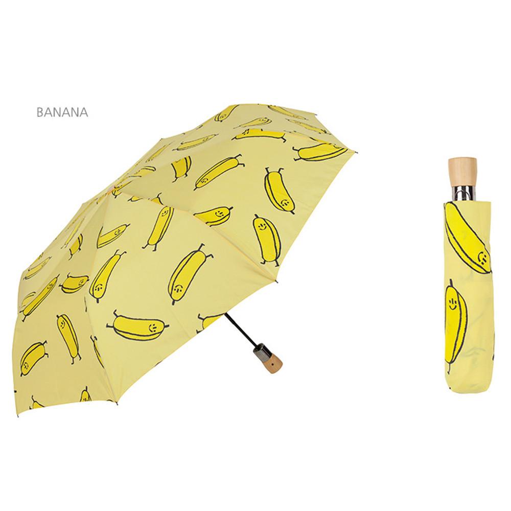 Banana - Life studio automatic foldable pattern umbrella