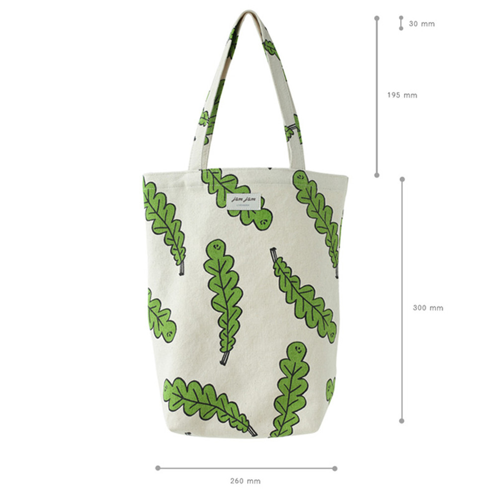 Size of Jam Jam pattern small tote bag