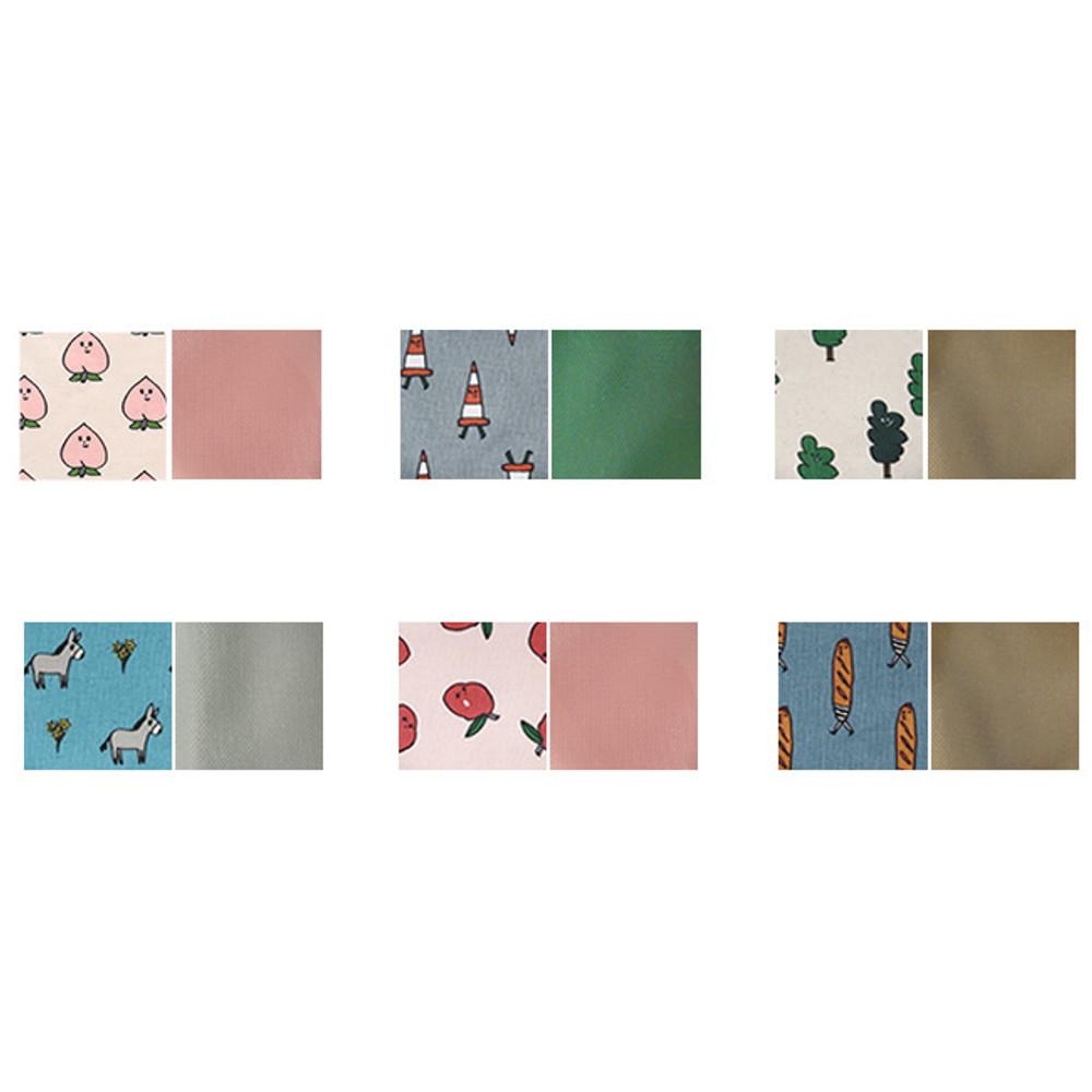 Inner color of Jam Jam pattern zipper pouch