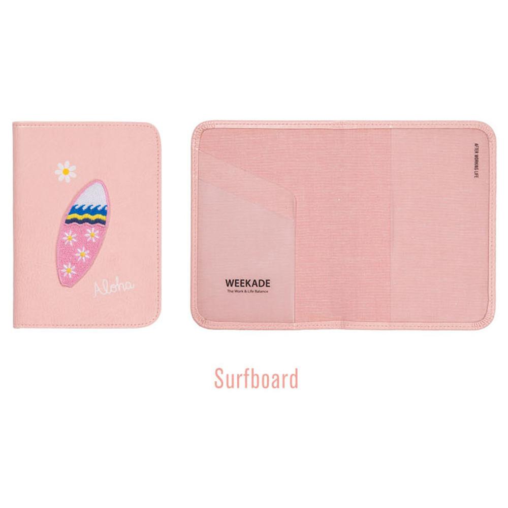 Surfboard - Tropical travel passport holder case