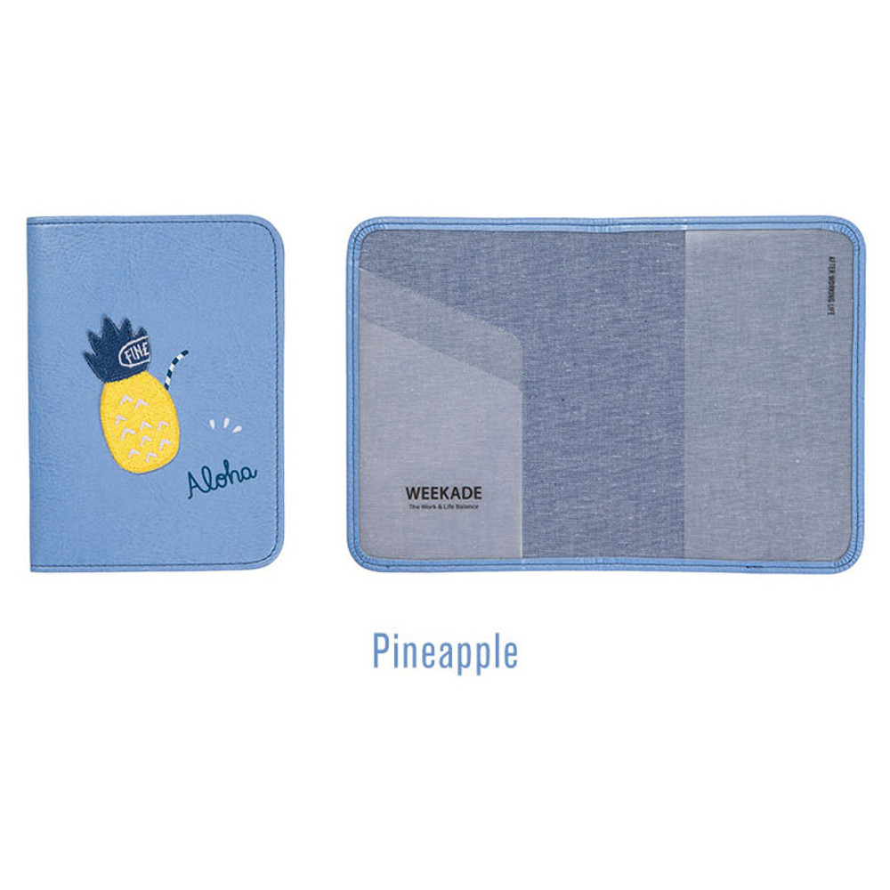 Pineapple - Tropical travel passport holder case