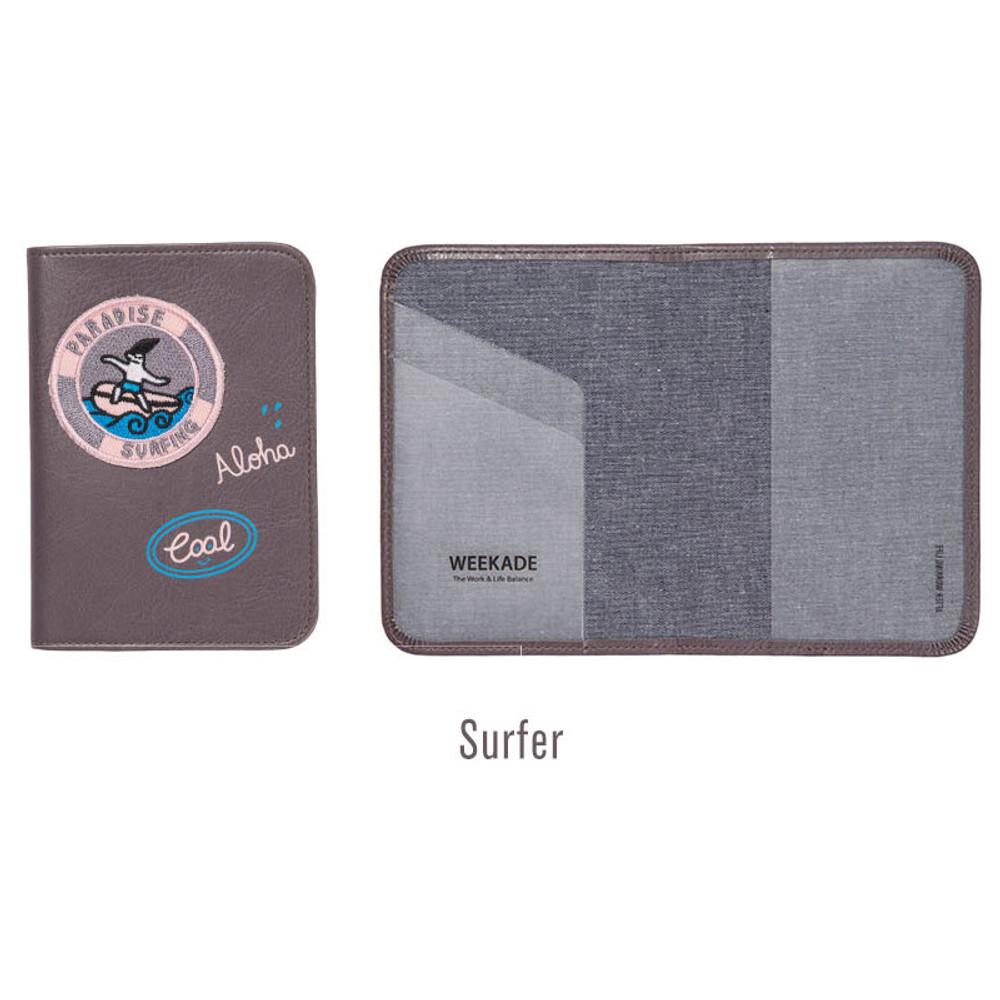 Surfer - Tropical travel passport holder case