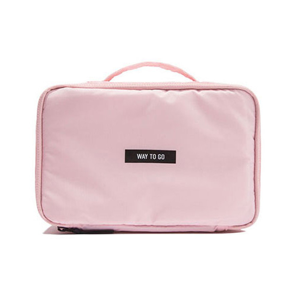 Pink - Weekade travel makeup cosmetic pouch bag