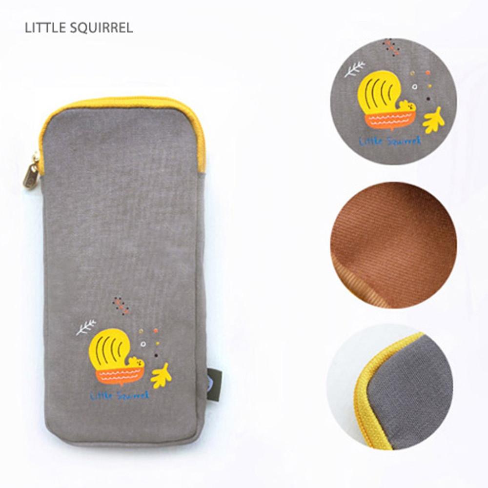 Little squirrel - Hey buddy soft flat pencil case