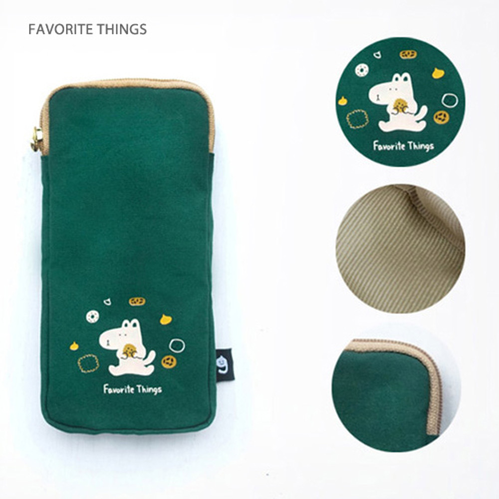 Favorite things - Hey buddy soft flat pencil case