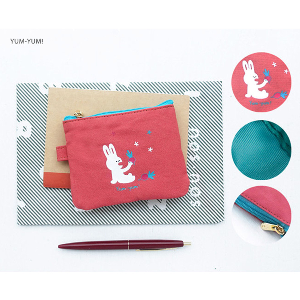 Yum-Yum - Hey buddy soft flat small zipper pouch