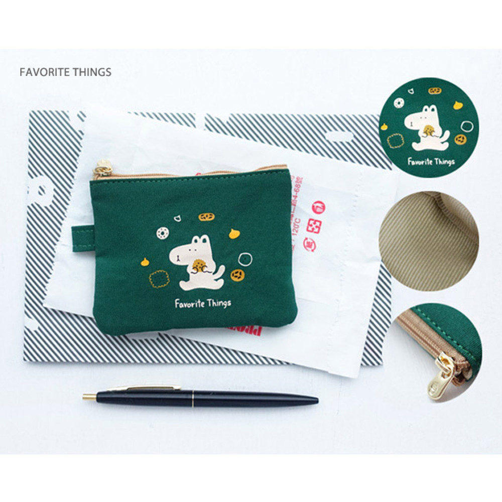 Favorite things - Hey buddy soft flat small zipper pouch