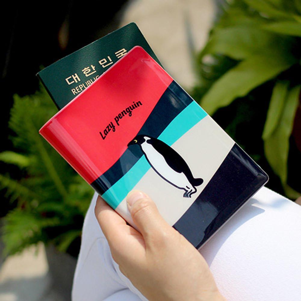 Lazy penguin - Lazy lounge RFID blocking passport case