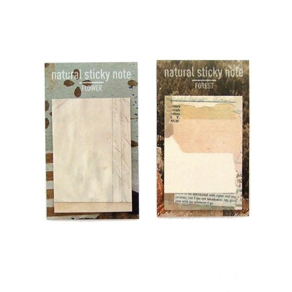 Natural sticky memo notes set
