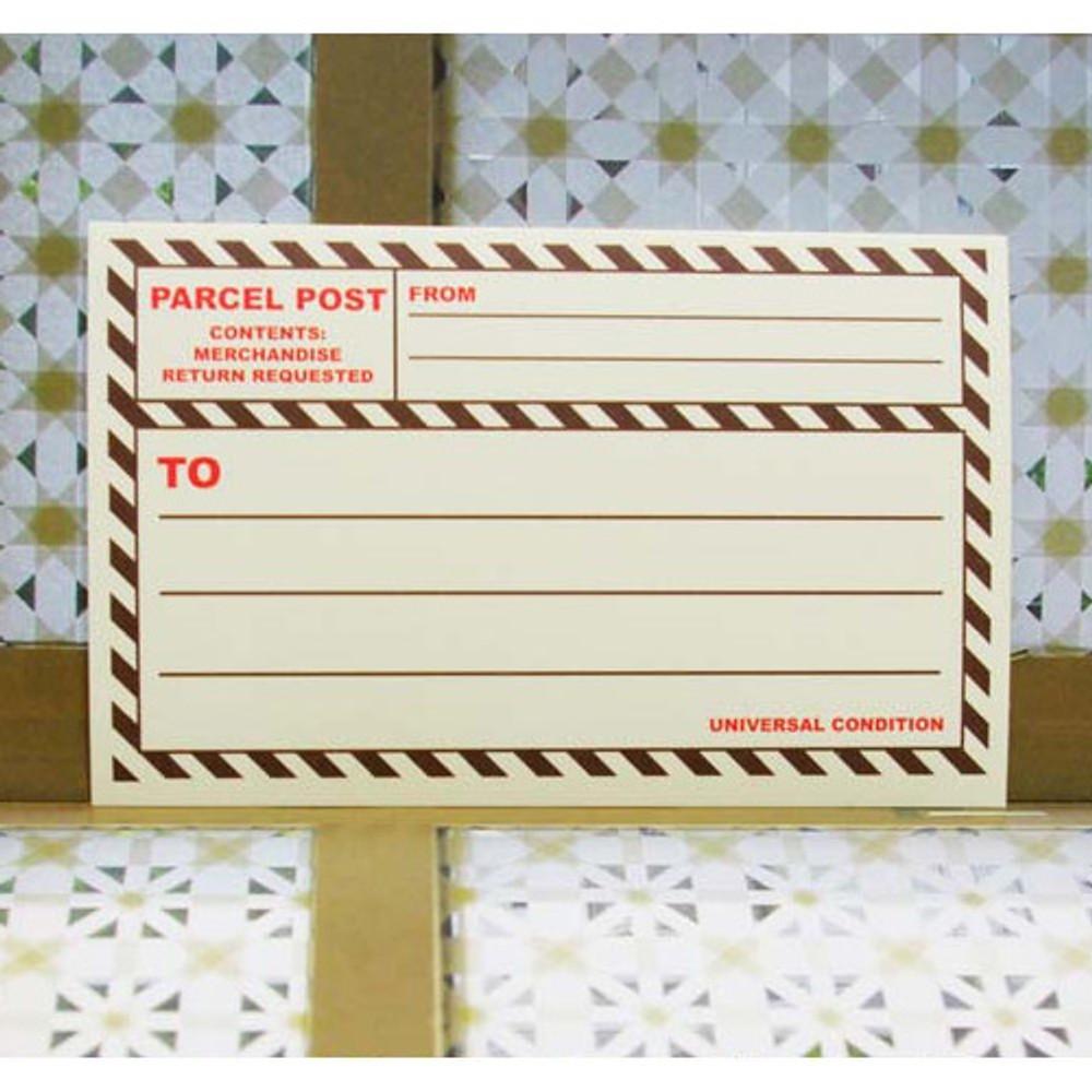Brown - Post 2 colors large label sticker set