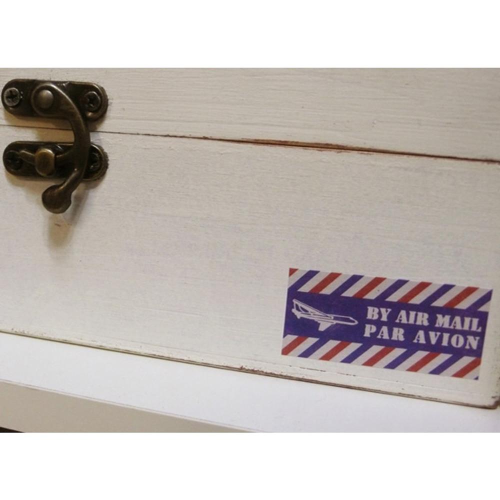 Detail of Vintage postal deco sticker