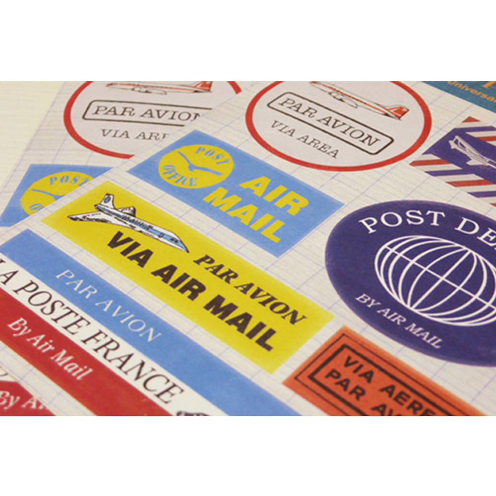 Vintage postal deco sticker