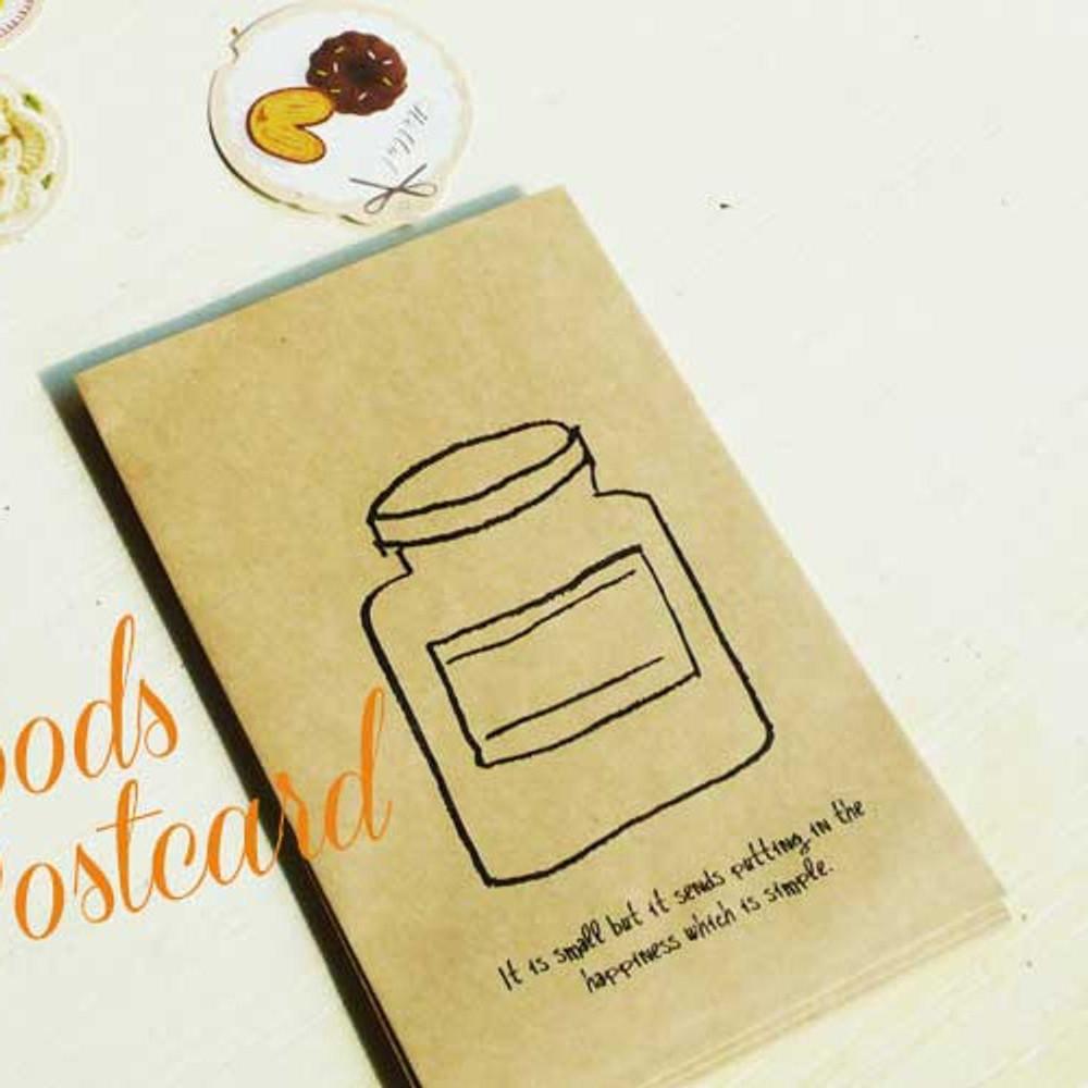 Bottle postcard envelope set