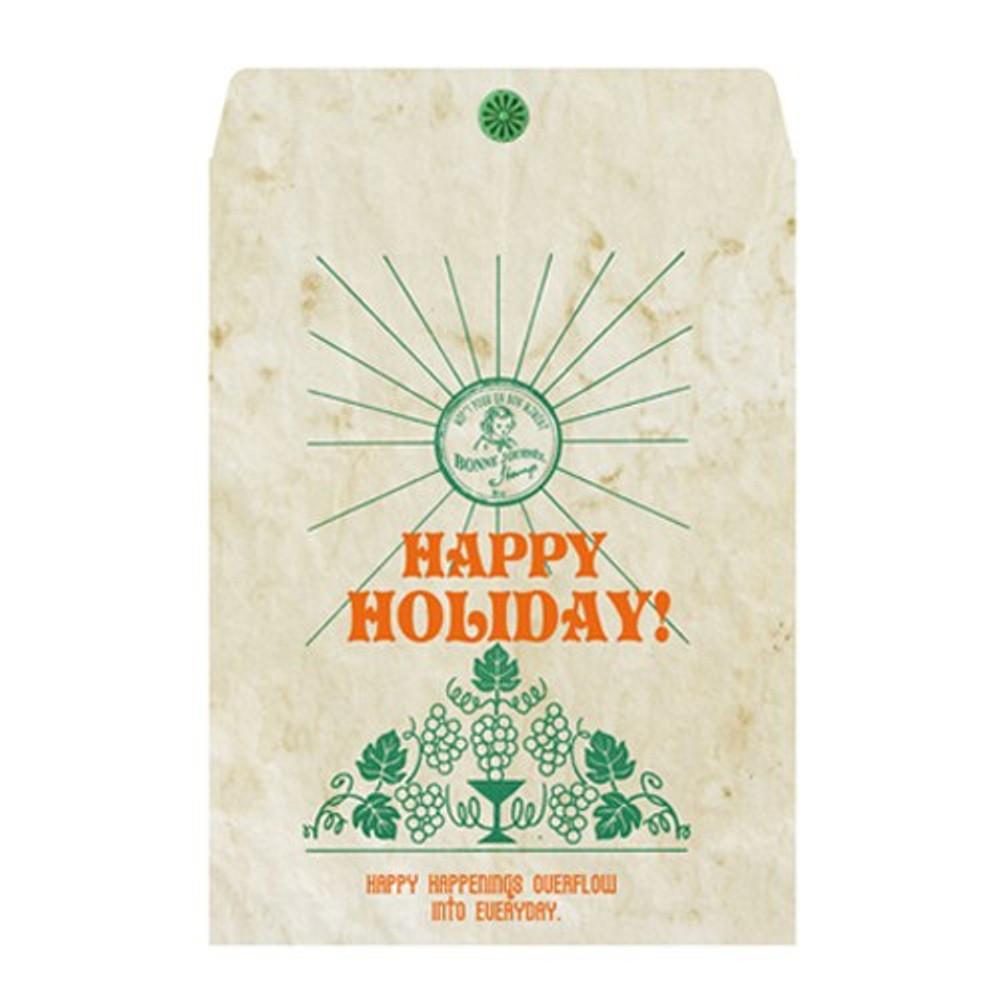 Vintage green holiday gift bag envelope set