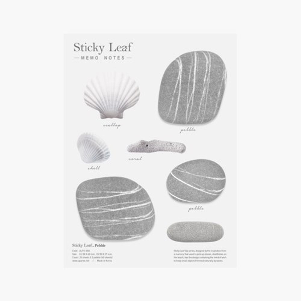 Pebble sticky memo notes - Large
