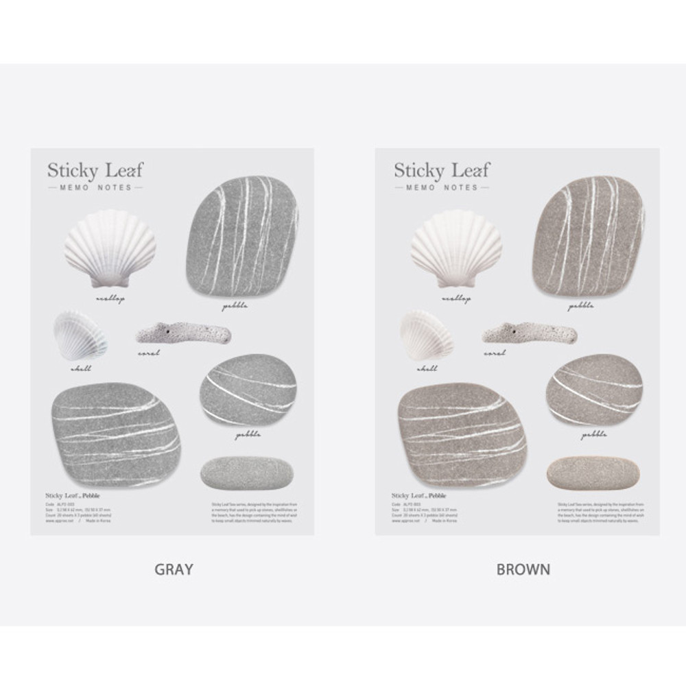 Option of Pebble sticky memo notes - Large