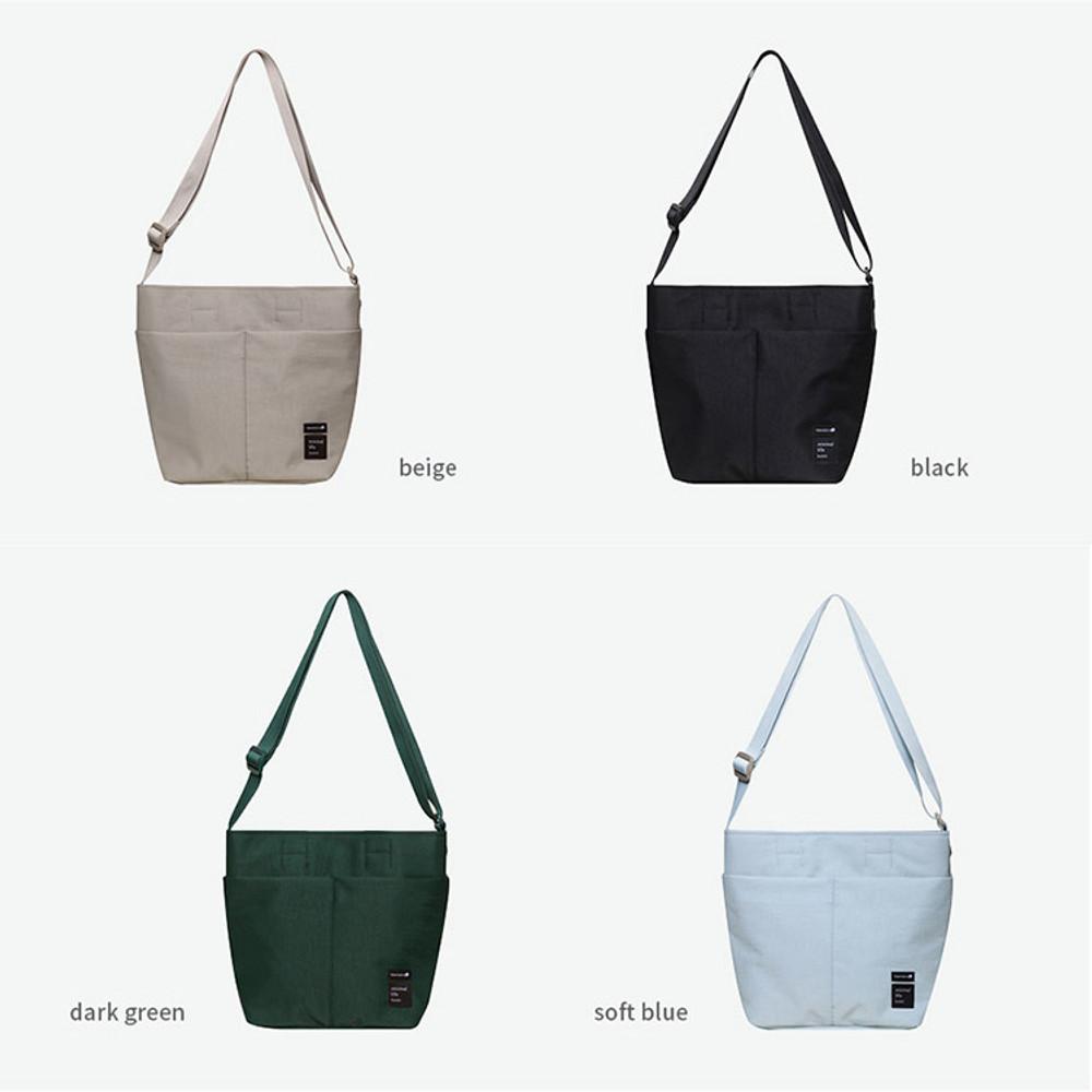 Colors of Travelus travel bucket shoulder bag