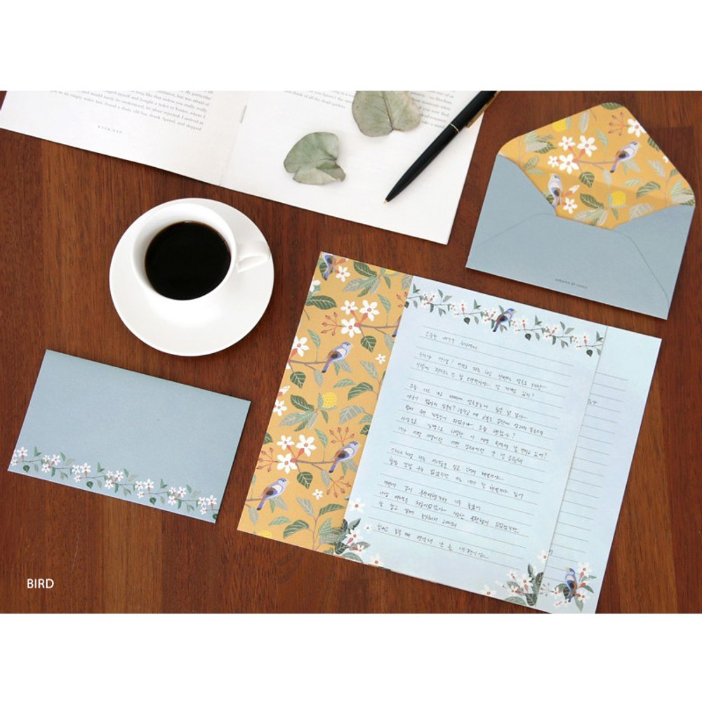 Bird - Pattern letter paper and envelope set for you