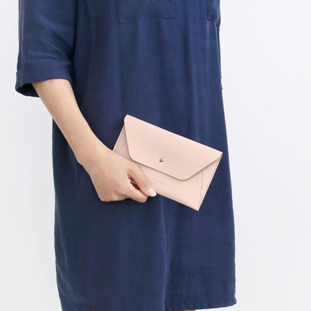 Indi pink - Daily envelope style slim wallet
