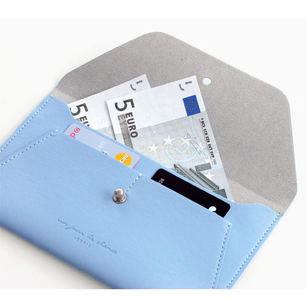 Serenity blue - Daily envelope style slim wallet