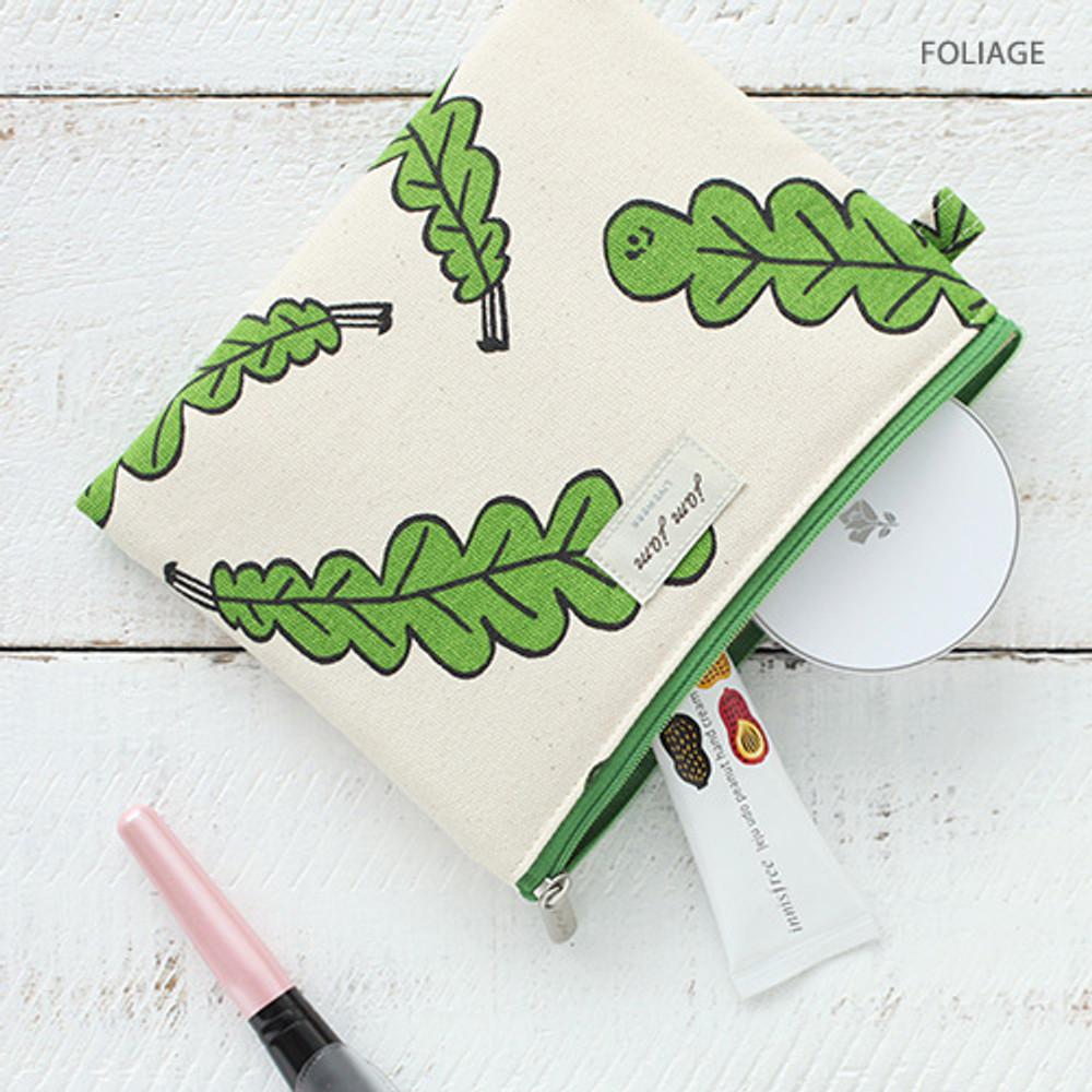 Foliage - Jam Jam toilon pattern rectangular pouch
