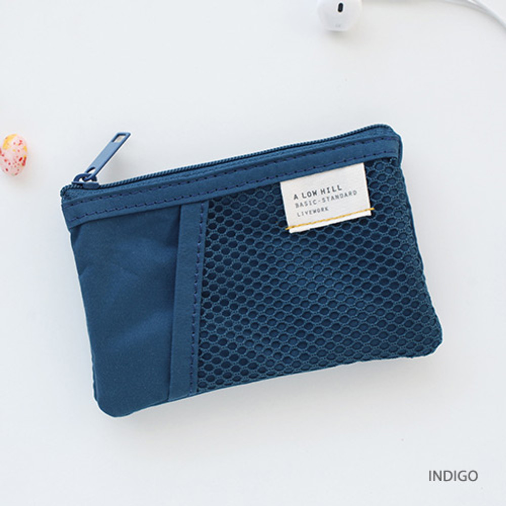 Indigo - A low hill basic mesh pocket small pouch