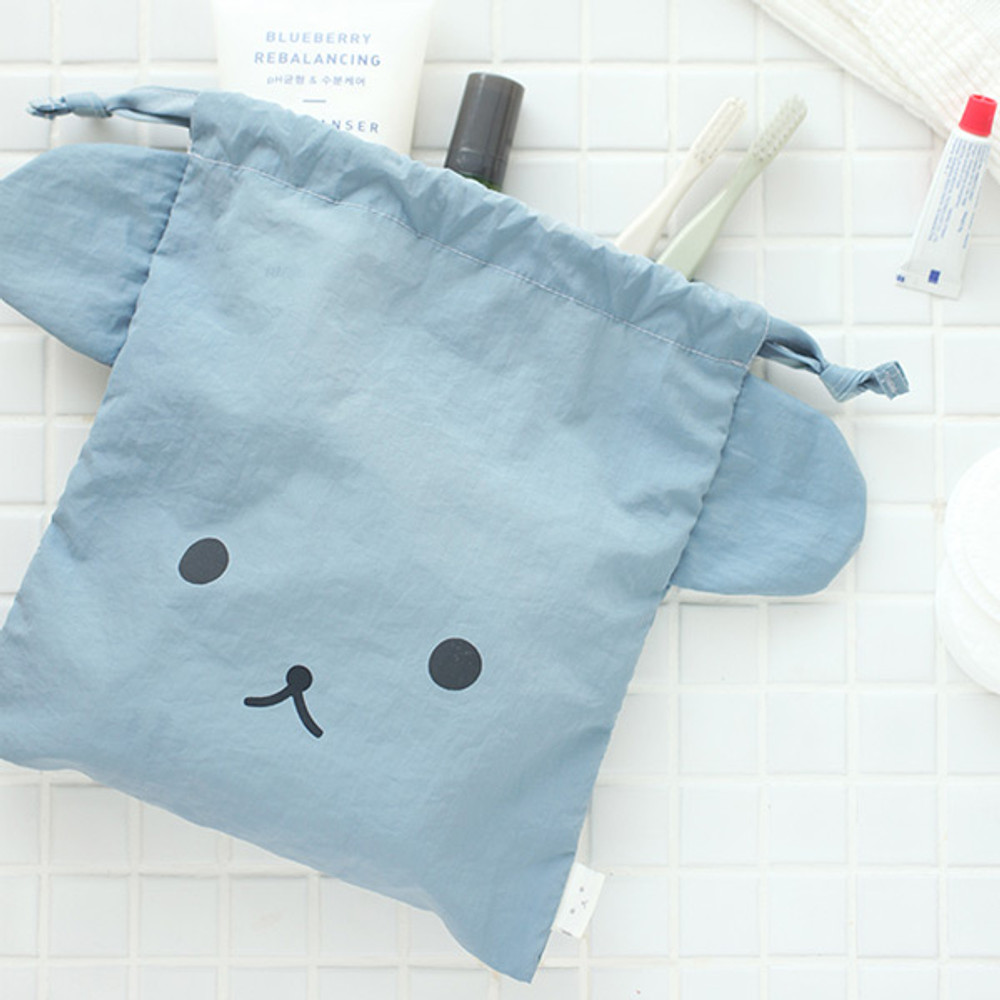 Bear - Popuree water resistant drawstring pouch