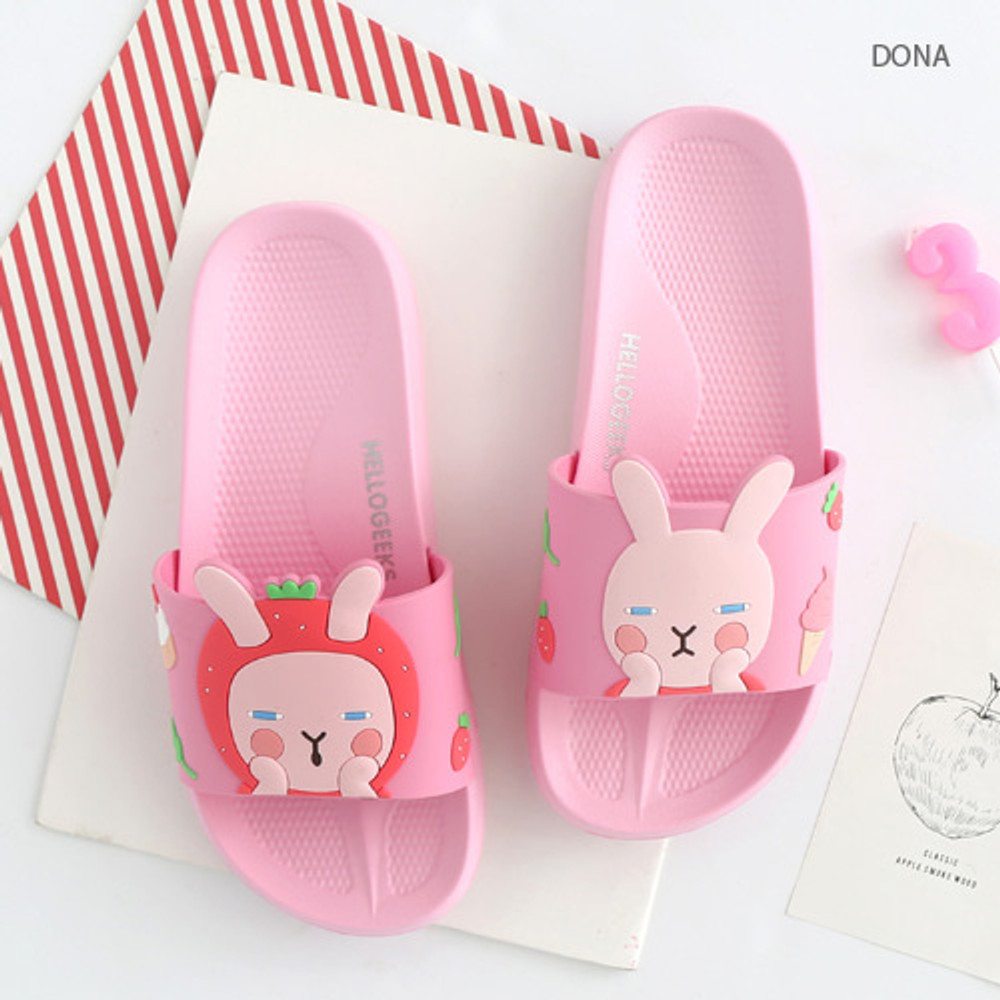 Donna - Hellogeeks petite PVC slide sandal