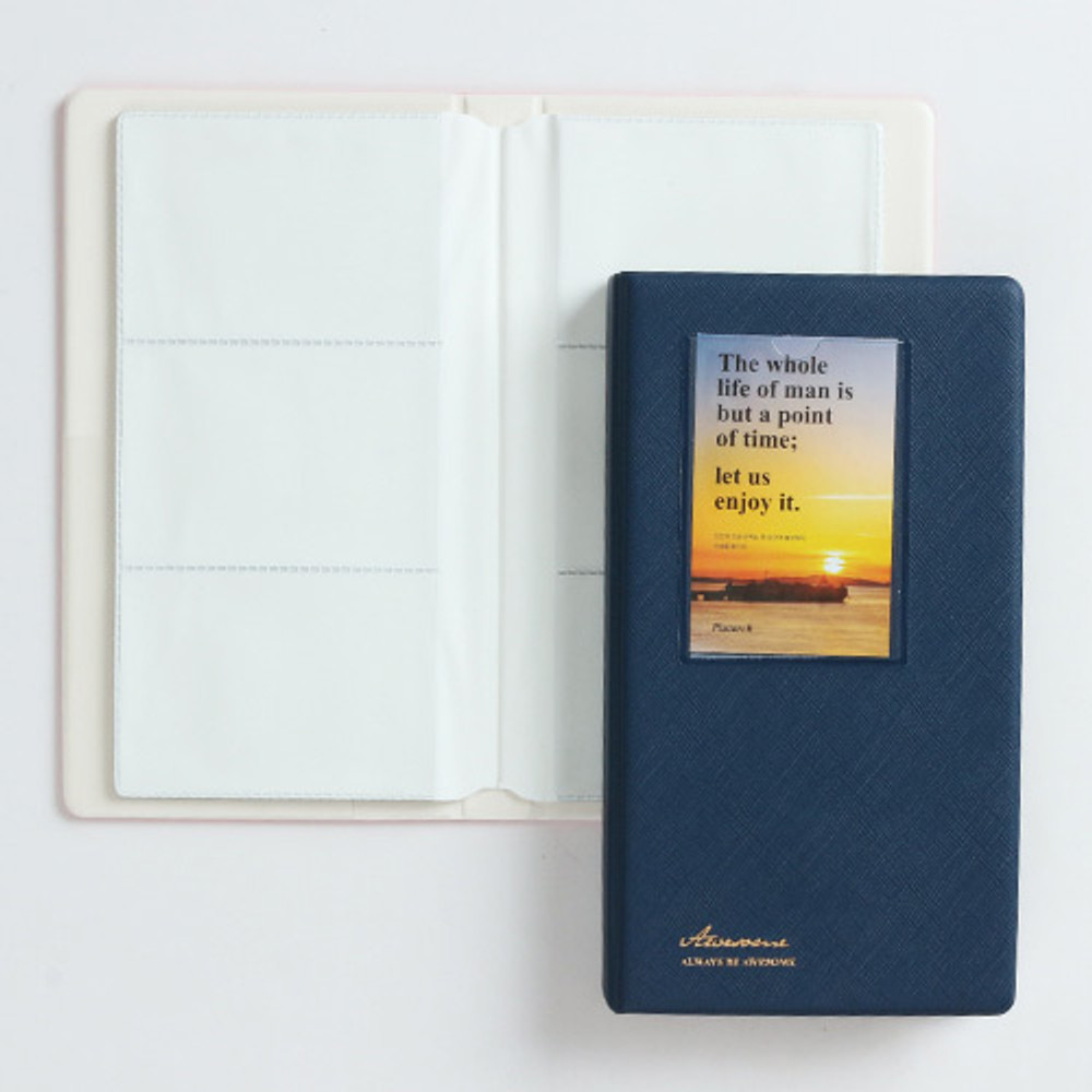 Navy - Awesome instax mini slip in photo album
