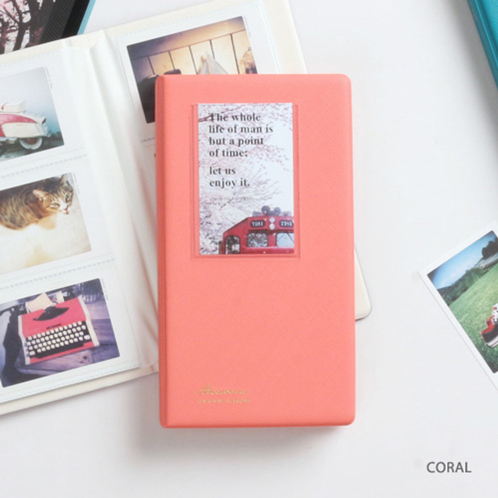 Coral - Awesome instax mini slip in photo album